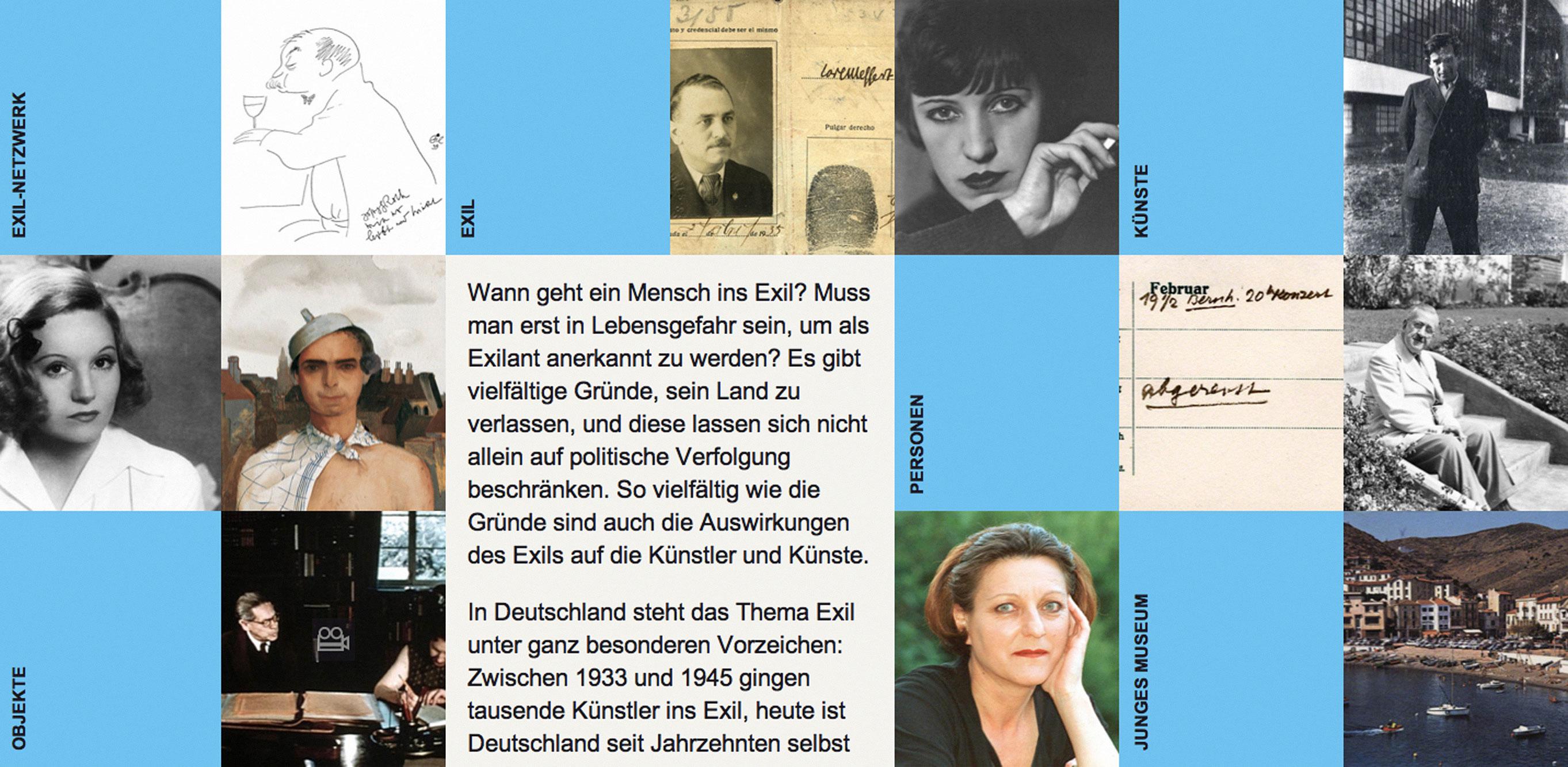 von GROTE Ausstellungsgestaltung und Design / Künste im Exil – Virtuelle Ausstellung