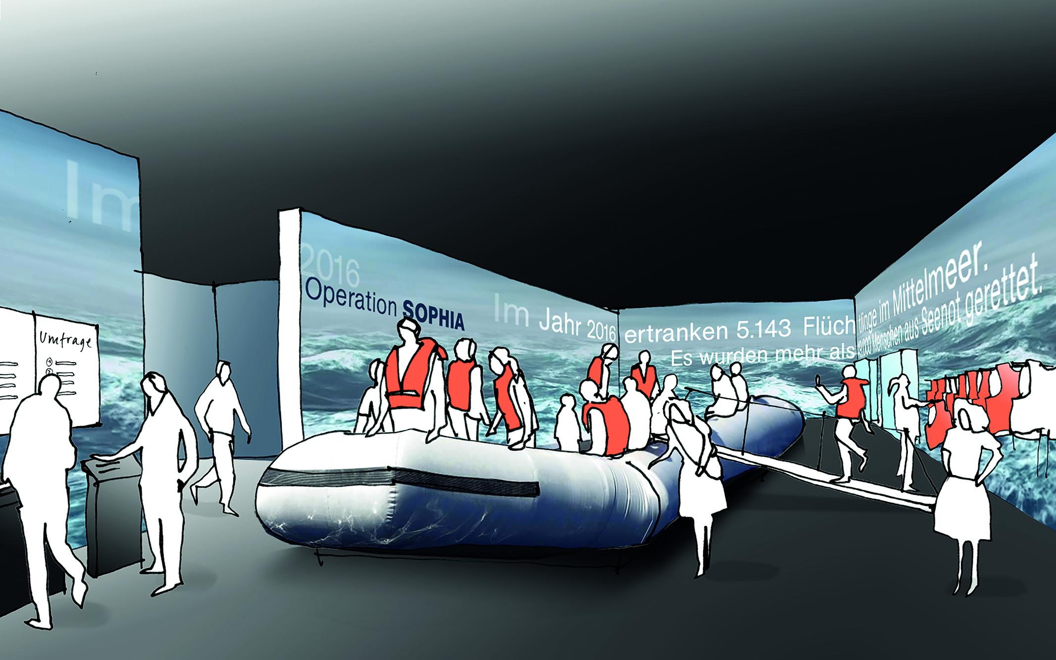 von GROTE Ausstellungsgestaltung und Design / Deutsches Marinemuseum Wilhelmshaven – Museumserweiterung